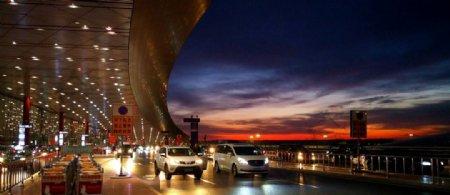 北京机场清晨图片