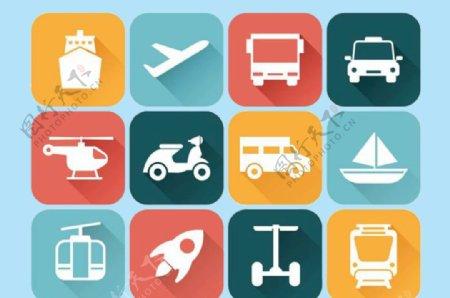 交通工具飞机公交图片