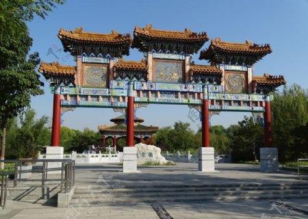 北京园大门图片