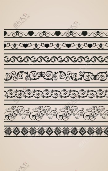 欧式花纹欧式边框图片