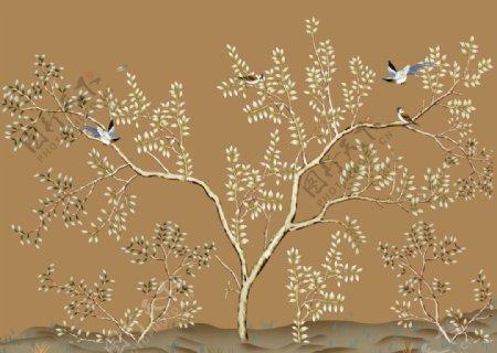 壁纸壁画墙纸小燕子图片