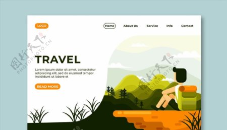 旅行网站登陆页图片