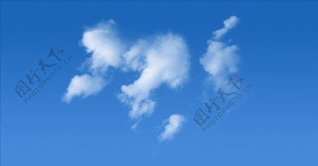 PSD分层白云图片