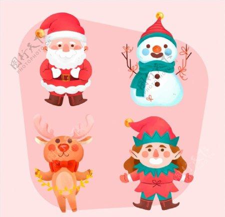 笑脸圣诞节角色图片