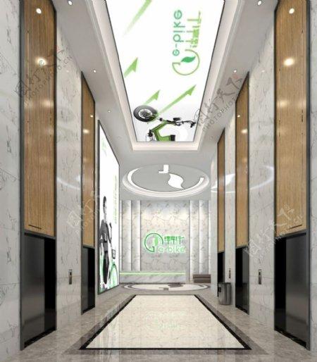 现代科技公司电梯厅效果图图片