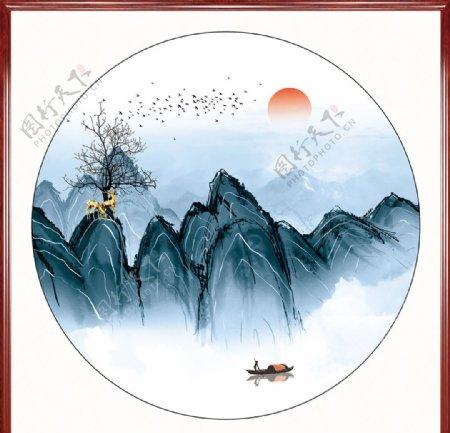 新中式水墨装饰画图片