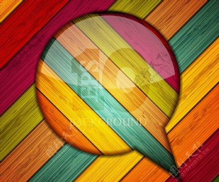 炫彩木板背景图片
