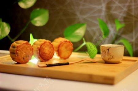 中秋月饼美食点心图片
