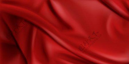 红绸布背景图片