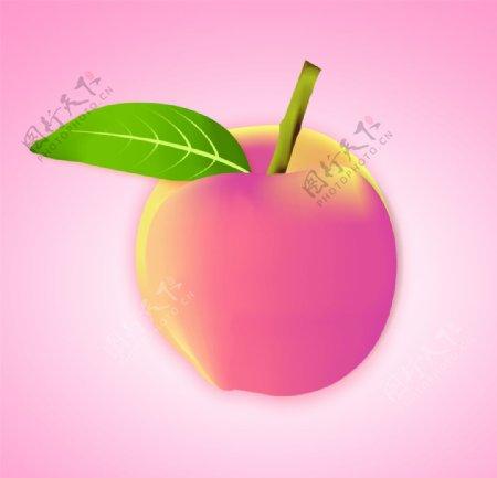 桃子手绘图图片
