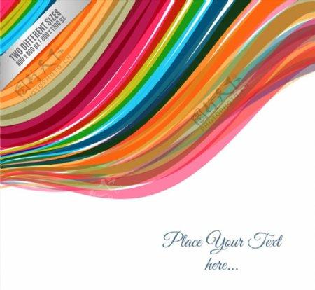 彩虹色线条背景图片