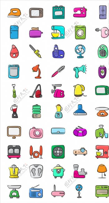 生活用品简约icon图片