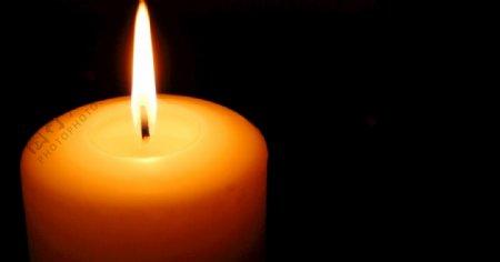 黄色蜡烛蜡烛光火火焰图片