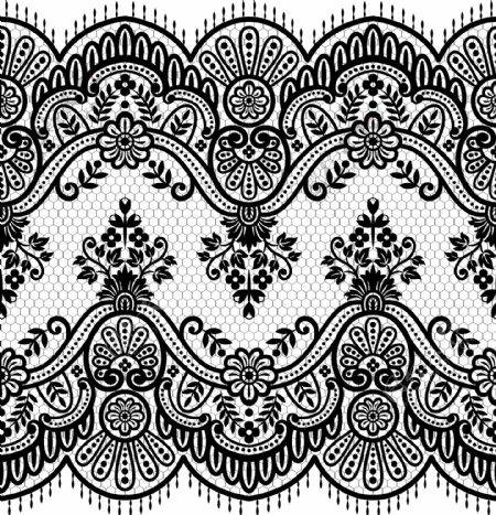 蕾丝花纹边框图片