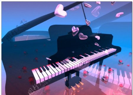 婚礼钢琴爱心飞舞视频