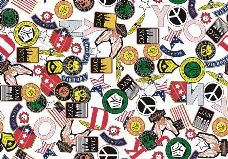 英文字母美国徽章图片
