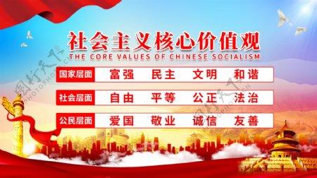 社会主义核心价值观党建展板图片