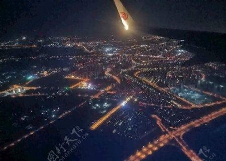 长沙机场夜景图片