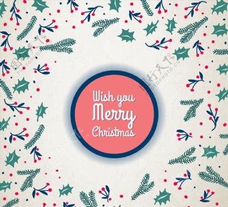 圣诞植物祝福卡图片