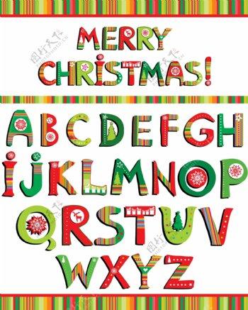 圣诞英文字母图片