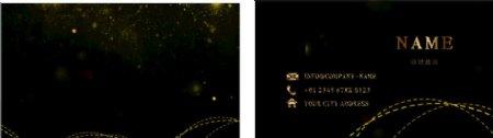 金色线条矢量商务名片图片