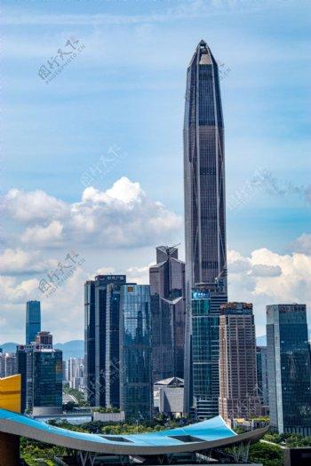 城市高楼建筑背景海报素材图片