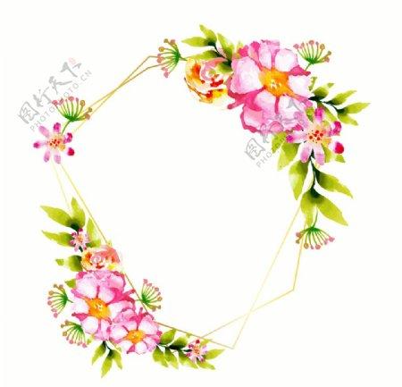 水彩花卉海报素材图片