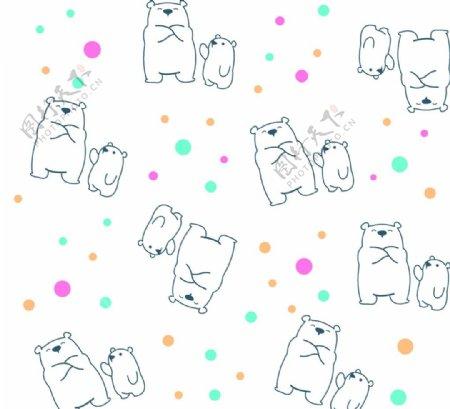 白底线条熊图片