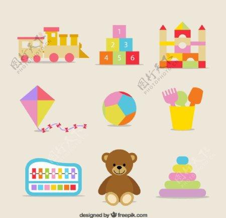 儿童玩具图标矢量图片