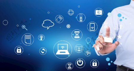 高清科技感智能手势图图片