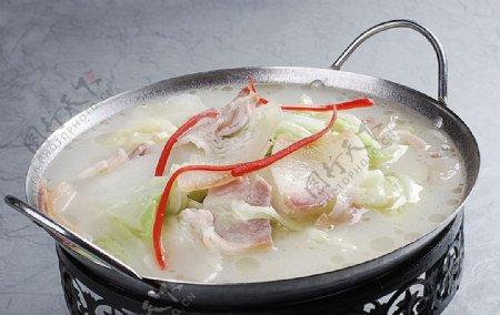 豫菜风吹肉炖大白菜图片
