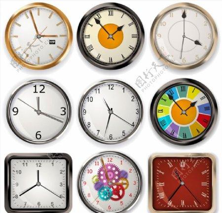 时钟钟表矢量图片