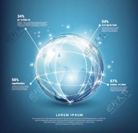 地球信息图表图片