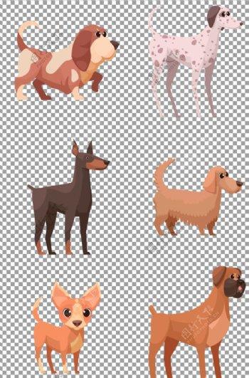 手绘卡通可爱狗狗图片