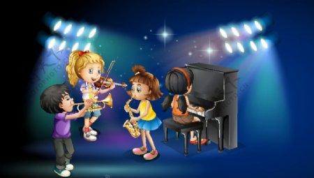 孩子乐队设计图片