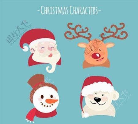 笑脸圣诞角色图片
