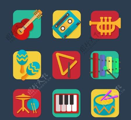 方形乐器图标图片