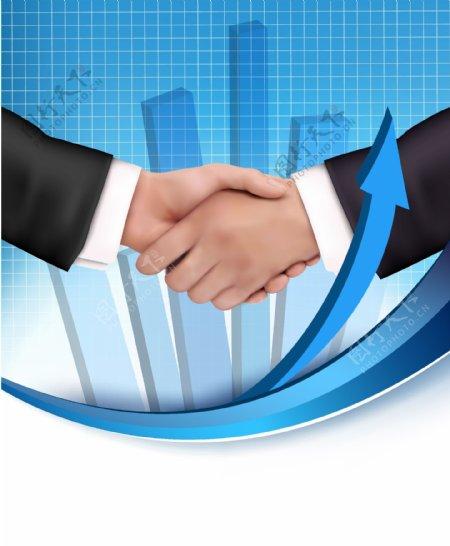商务人士握手图片