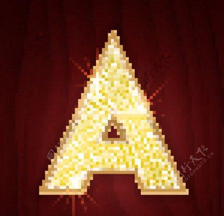 钻石闪耀字母图片
