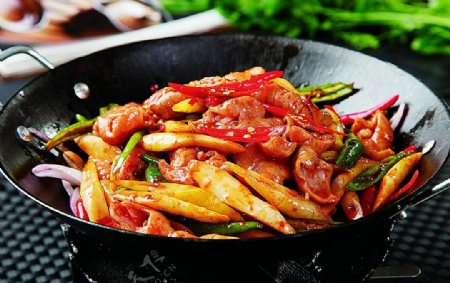 干锅竹笋肥肠图片