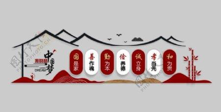 中国梦我的梦中国传统文化文化墙图片