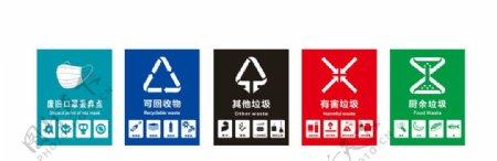 垃圾分类垃圾细分垃圾桶标识图片