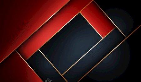 红色矢量几何空间背景图片