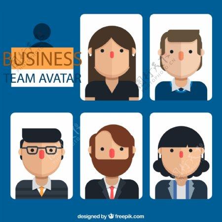 商务团队人物头像图片
