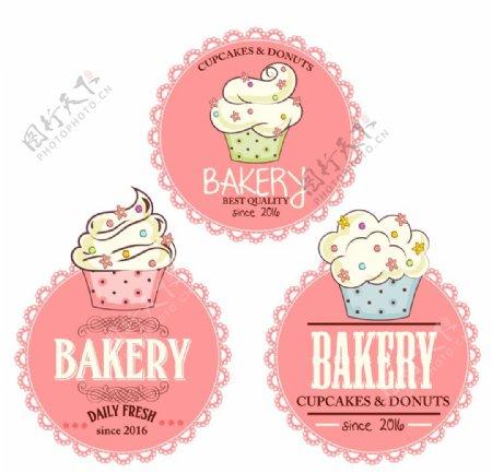 纸杯蛋糕标签图片