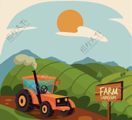 田地农场风景图片