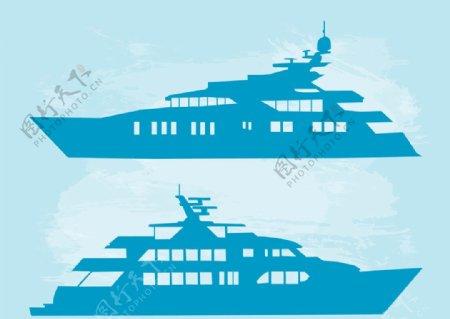 AI轮船矢量图图片