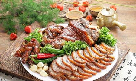日韩料理猪蹄肉图片
