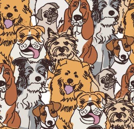 卡通手绘狗可爱小狗狗卡通图片