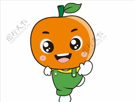 卡通橘子素材图片